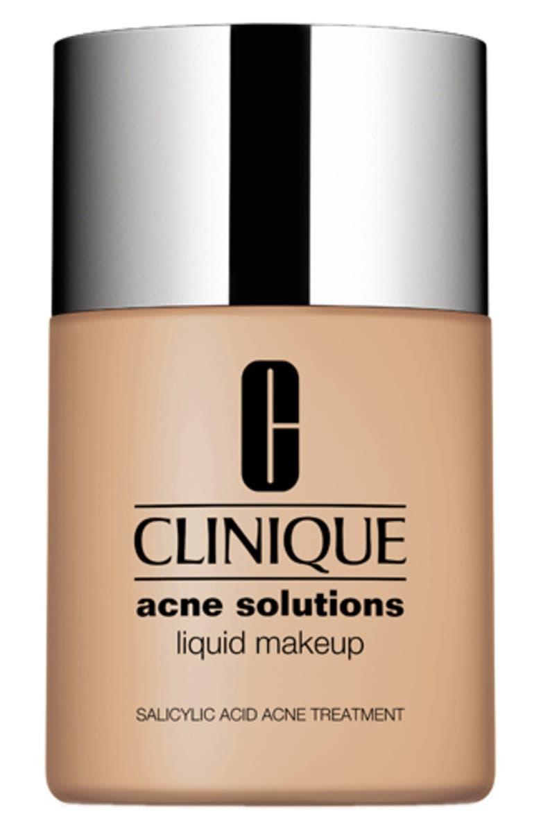 CLINIQUE Acne Solutions Liquid Makeup Foundation, Main, color, CREAM CARAMEL
