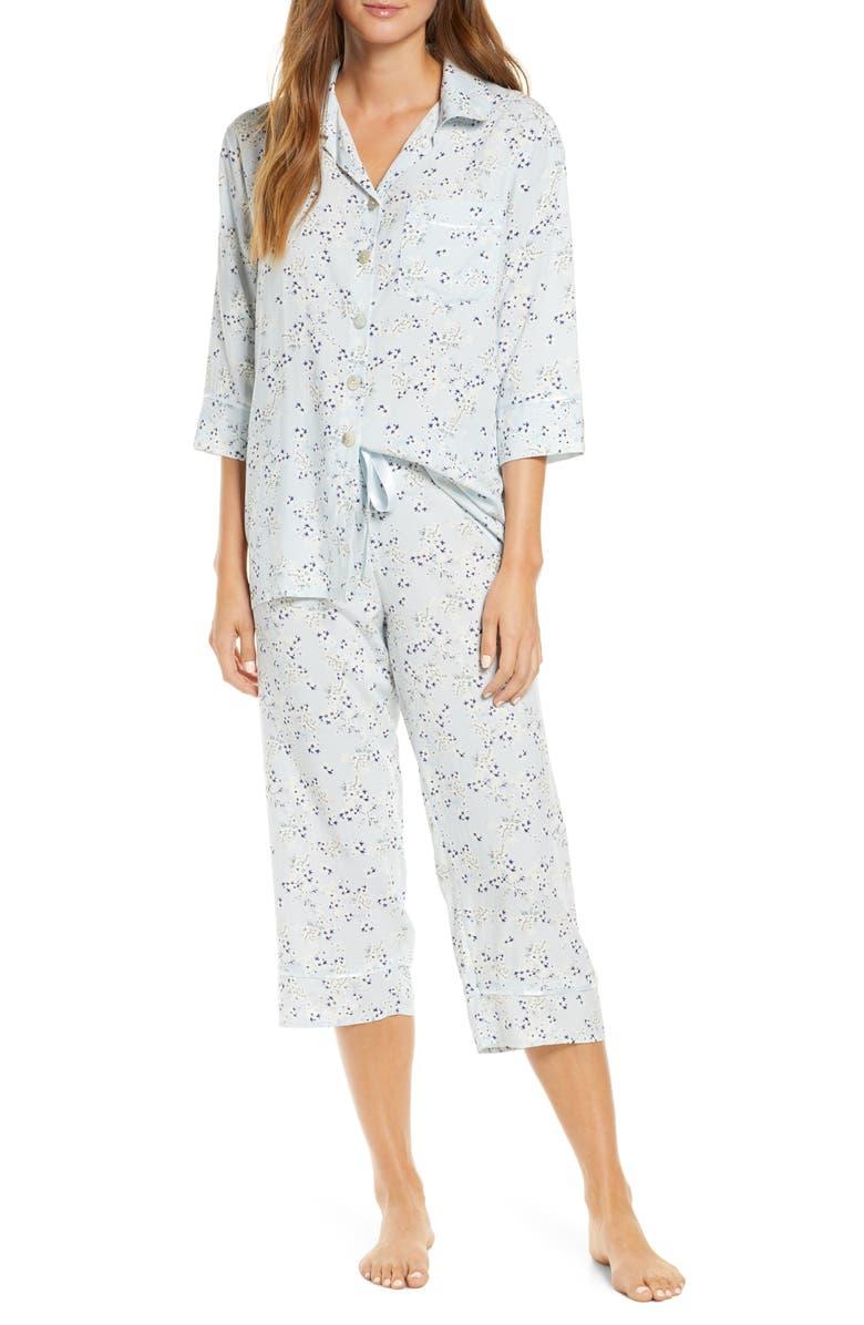 PAPINELLE Pixie Crop Pajamas, Main, color, POWDER BLUE