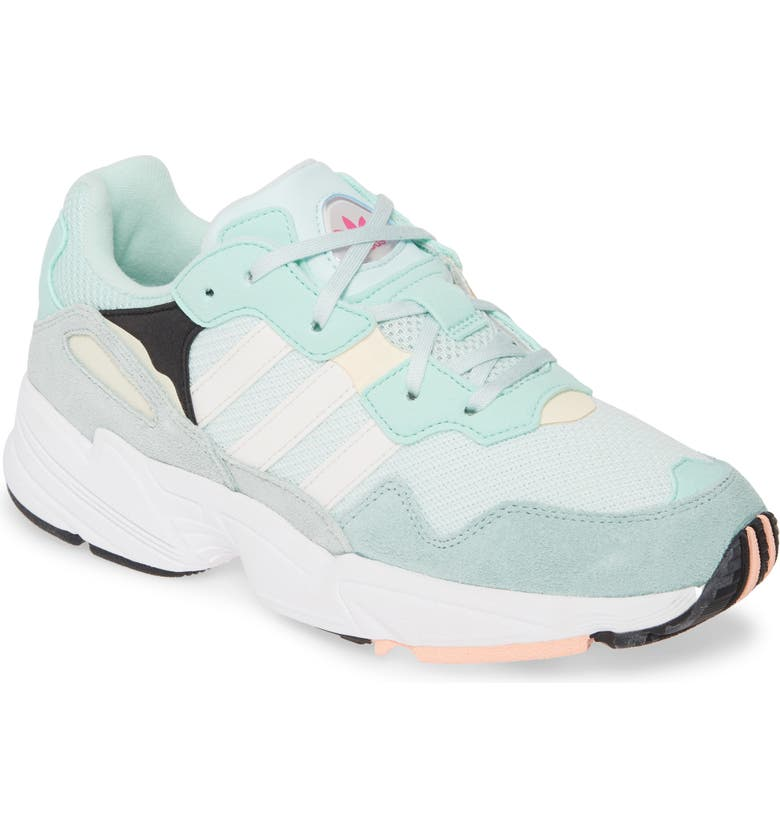 ADIDAS Yung-96 Sneaker, Main, color, ICE MINT/ CLOUD WHITE/ ORANGE