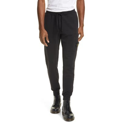 Stone Island Cargo Sweatpants, Black