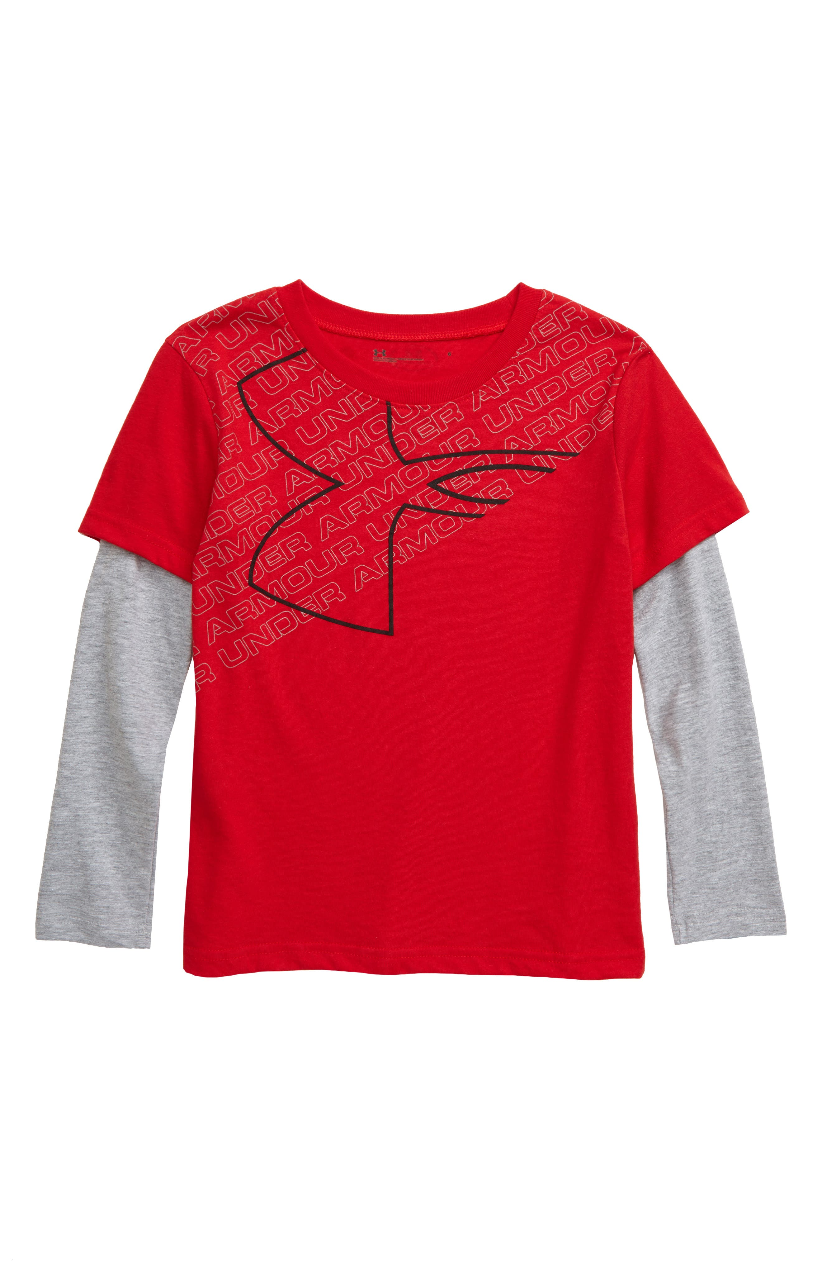 Toddler Boys Under Armour Big Logo Slider Shirt Size 4T  Red