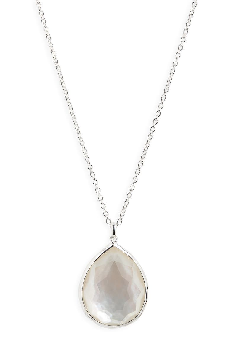 IPPOLITA 'Wonderland' Large Teardrop Pendant Necklace, Main, color, MOTHER OF PEARL