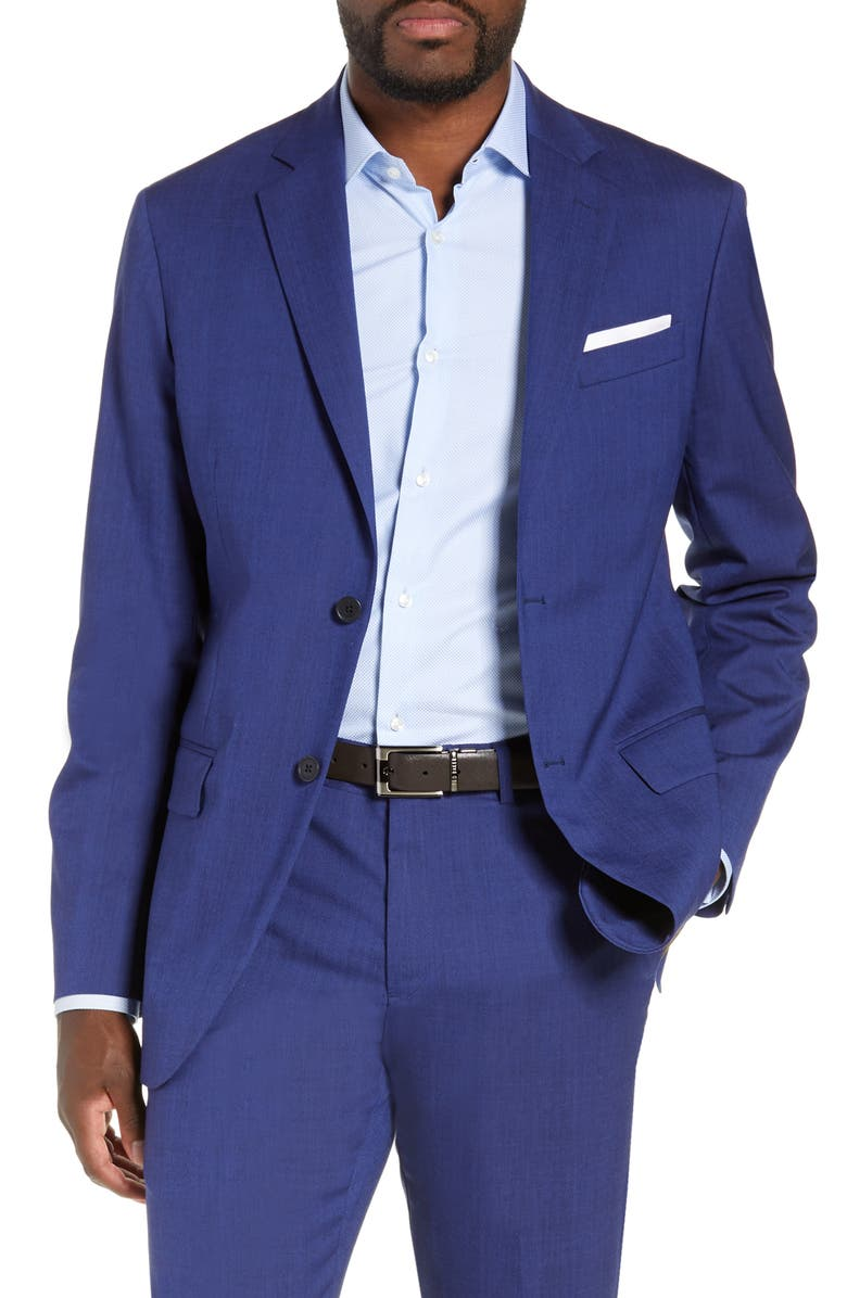 NORDSTROM MEN'S SHOP Tech-Smart Trim Fit Stretch Wool Travel Sport Coat, Main, color, HIGH BLUE