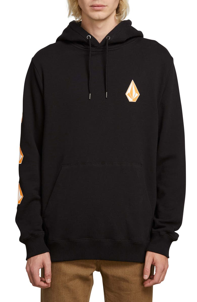 VOLCOM Deadly Stones Hoodie, Main, color, 001