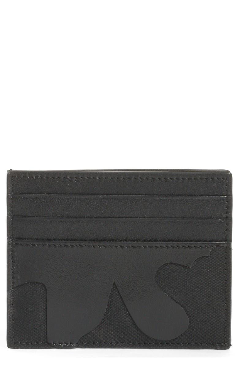 VALENTINO GARAVANI Tonal Camo Card Case, Main, color, 001