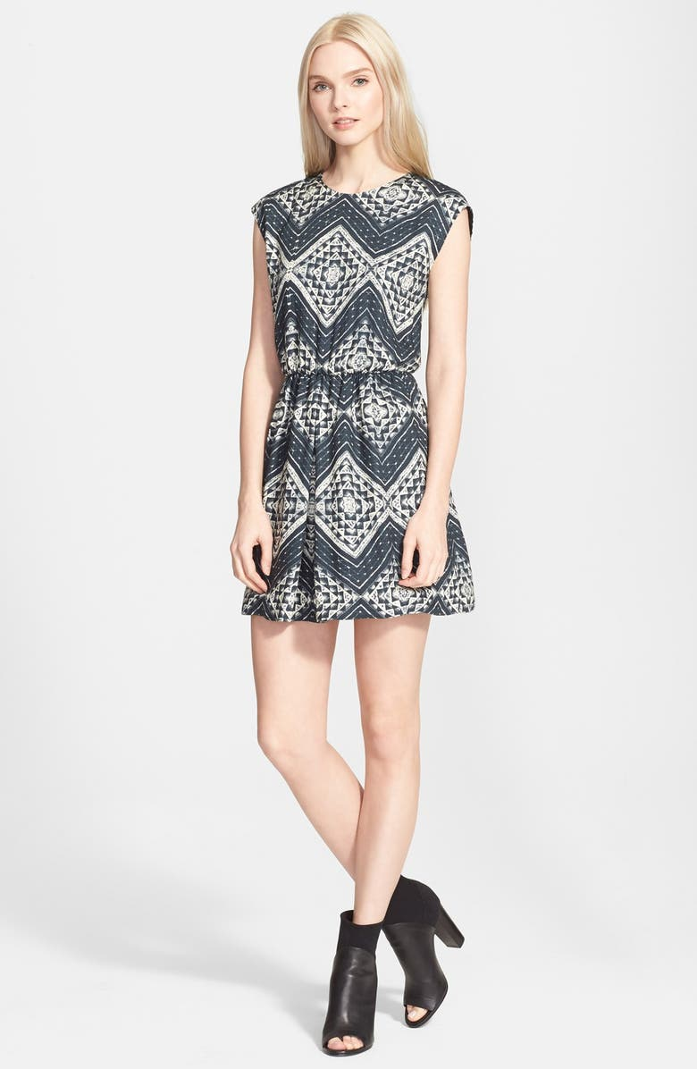 ALICE + OLIVIA Geo Print Dress, Main, color, 441