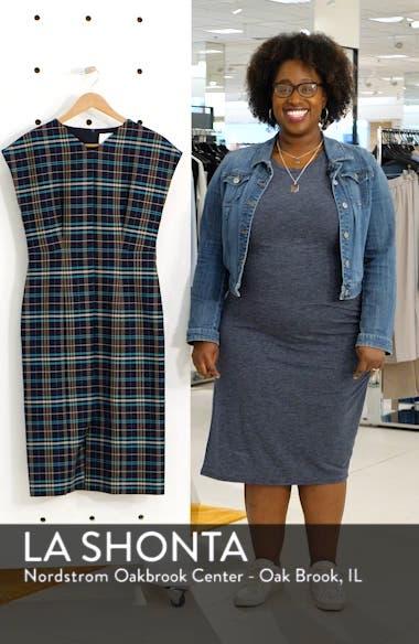Daela Plaid Stretch Cotton Dress, sales video thumbnail
