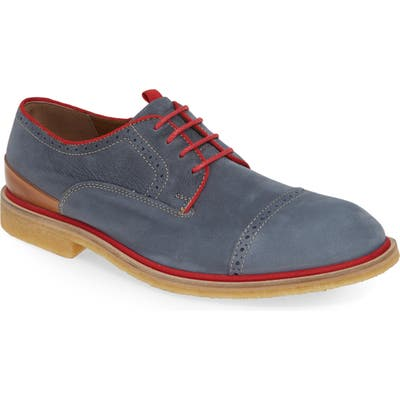 J & m 1850 Wagner Cap Toe Derby, Blue