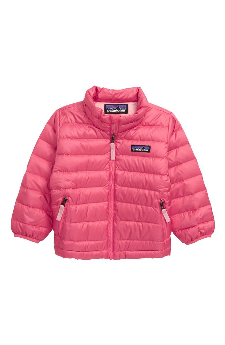 PATAGONIA Down Sweater Jacket, Main, color, RAPI RANGE PINK