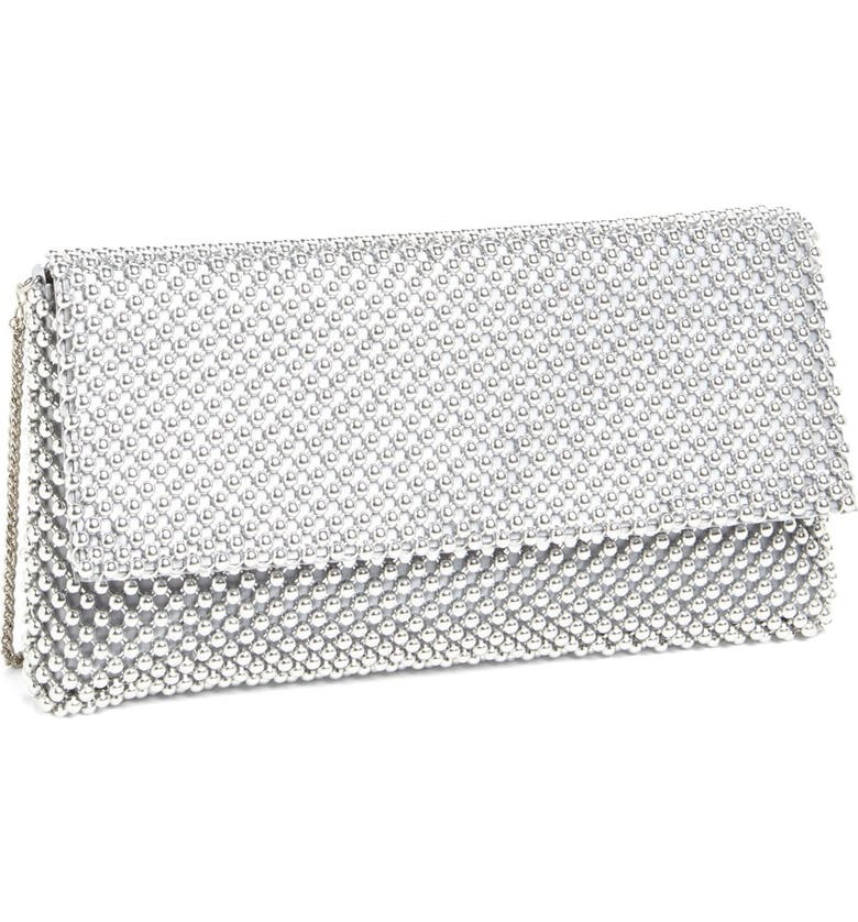 NINA Beaded Mesh Clutch, Main, color, 040
