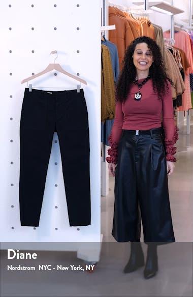 Jenna Slim Crop Stretch Twill Pants, sales video thumbnail
