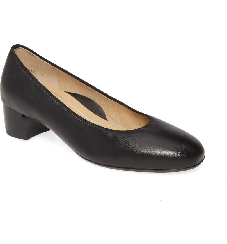 ARA Vivian Pump, Main, color, BLACK NAPPA LEATHER