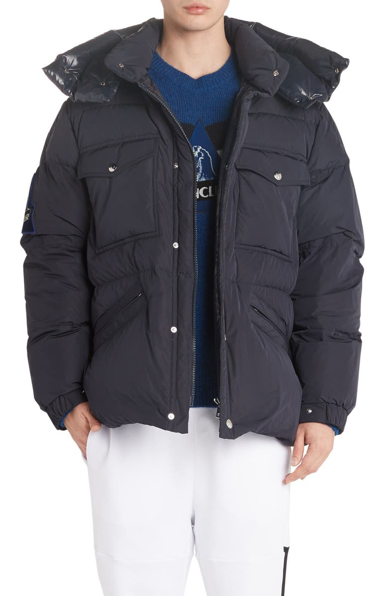 MONCLER Vilbert Hooded Puffer Jacket, Main, color, DARK BLUE