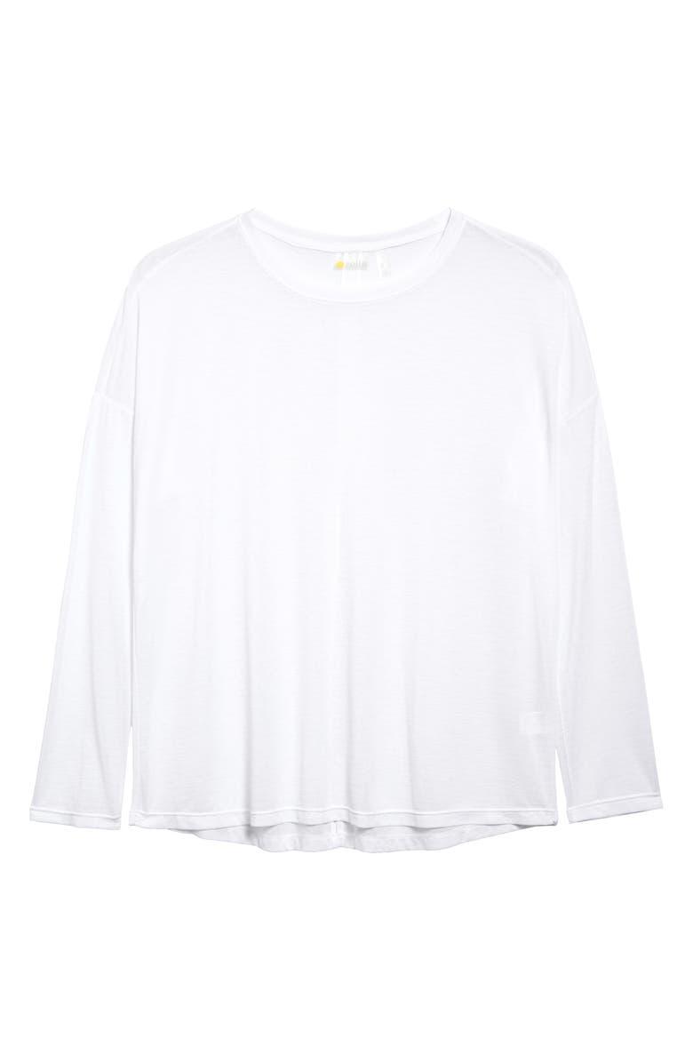 ZELLA Breezy Tie Back Top, Main, color, WHITE
