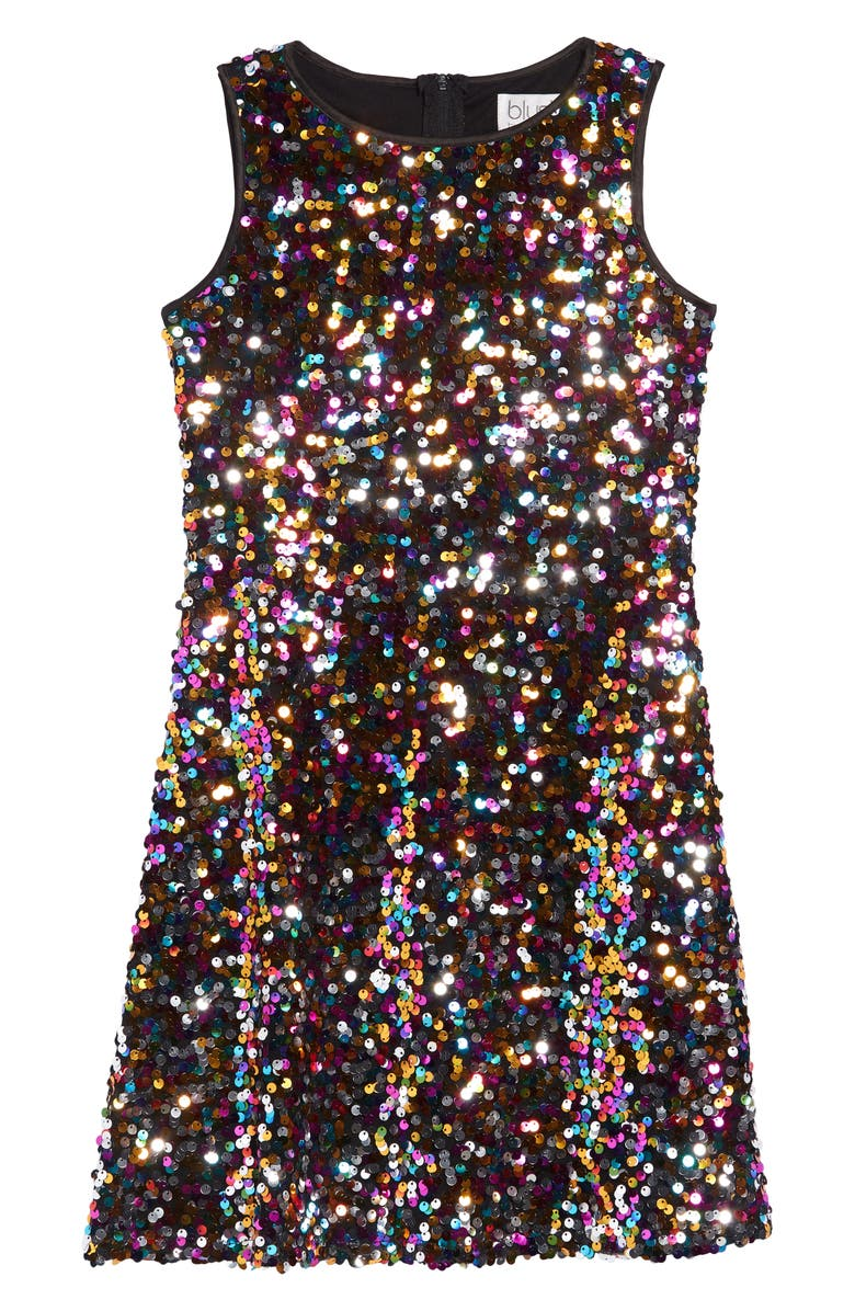 BLUSH BY US ANGELS Sequin Sheath Dress, Main, color, 710