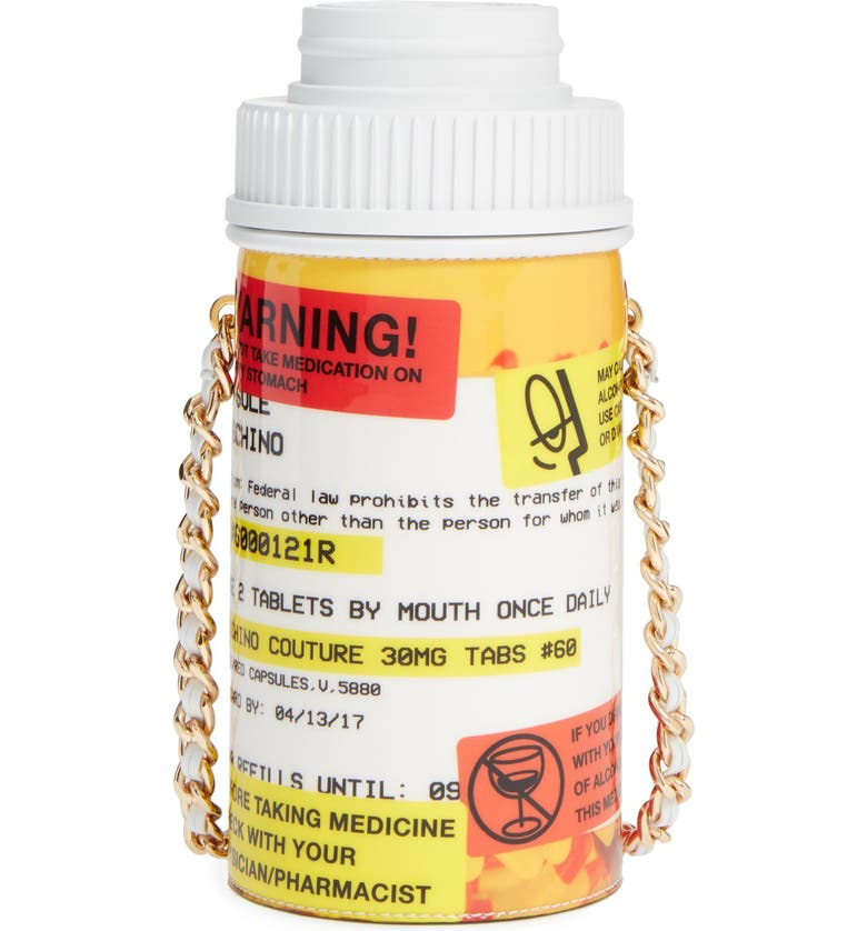 MOSCHINO Pill Bottle Shoulder Bag, Main, color, 960