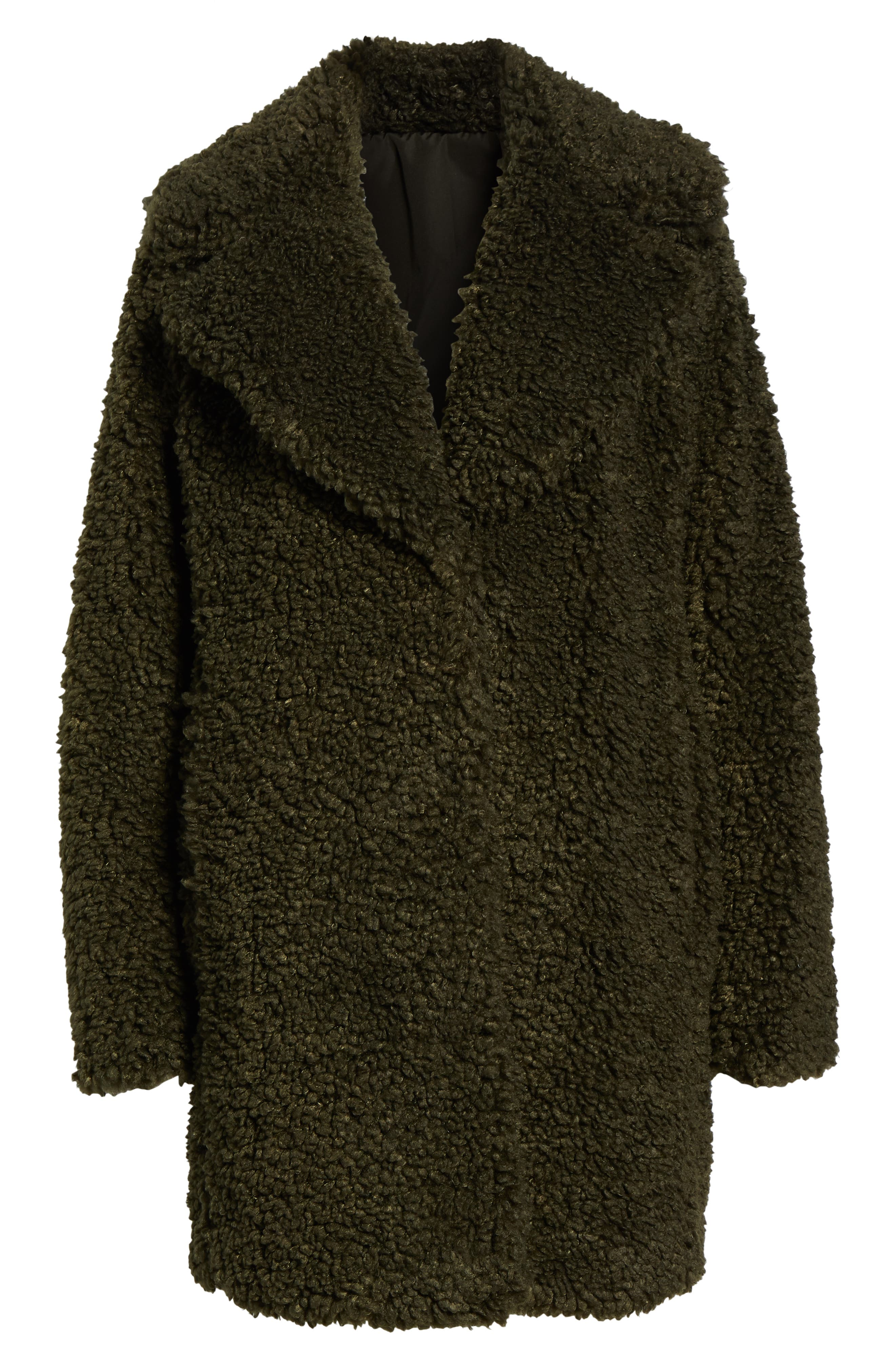 ,                             Faux Shearling Coat,                             Alternate thumbnail 7, color,                             300