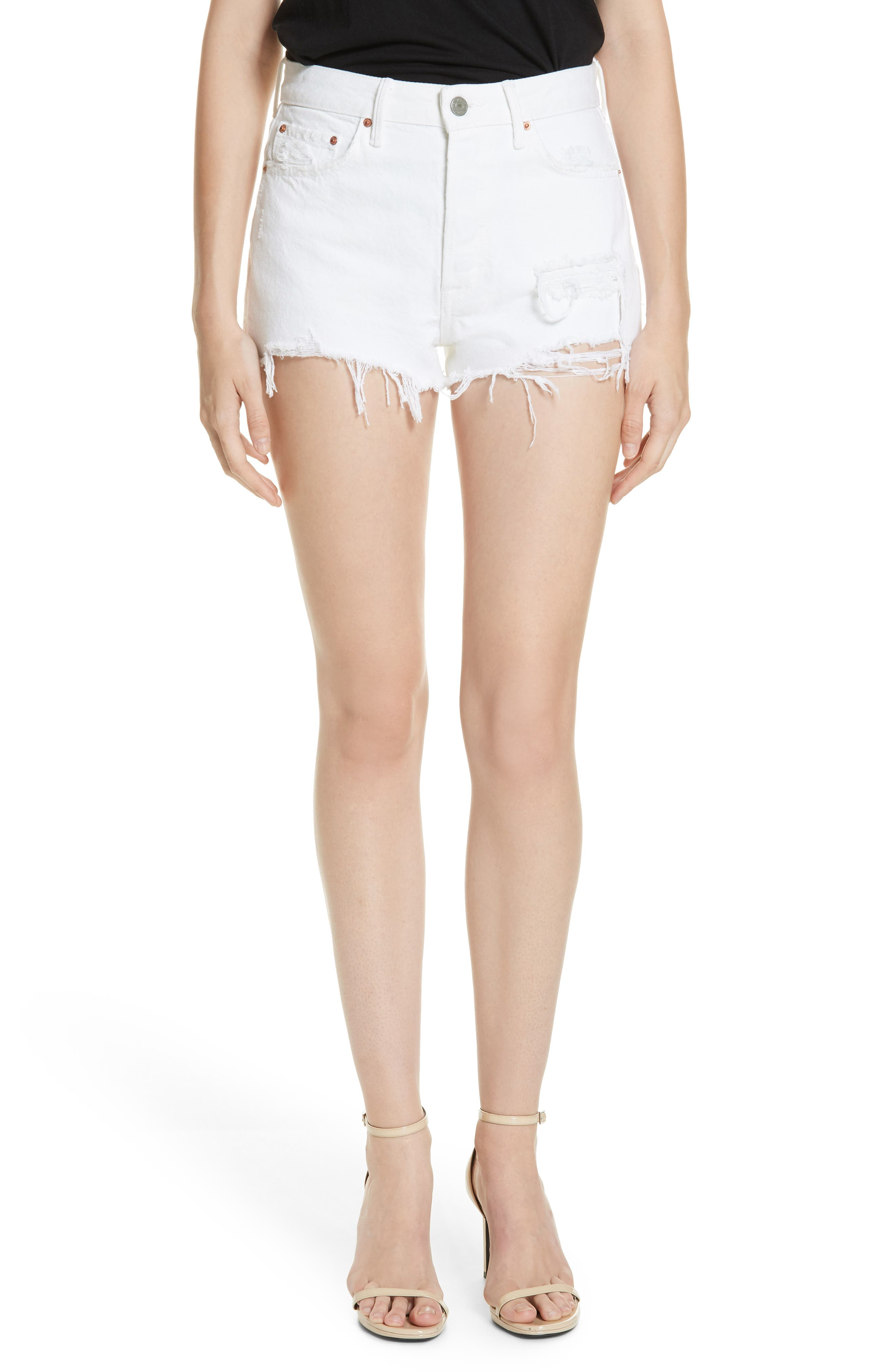 Women's Grlfrnd Cindy Rigid High Waist Denim Shorts