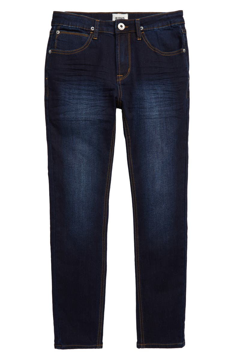 HUDSON KIDS Jude Slim Straight Leg Jeans, Main, color, DARK BLAST
