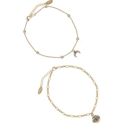Ettika Eye & Horn Anklet Set