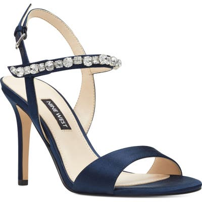 Nine West Madison Crystal Embellished Sandal, Blue