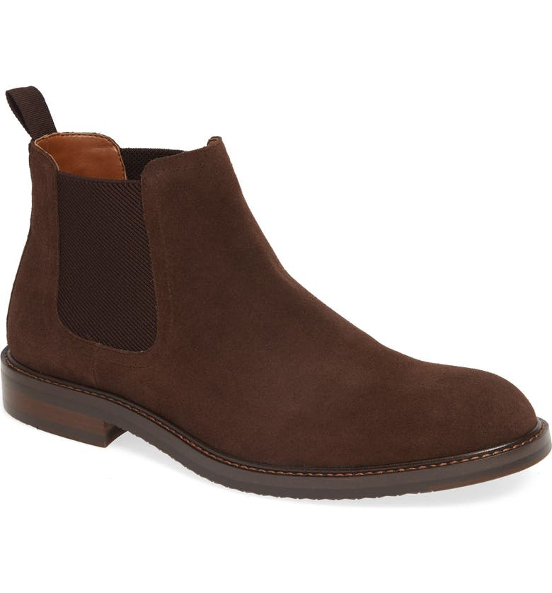 NORDSTROM MEN'S SHOP Bradley Chelsea Boot, Main, color, BROWN SUEDE