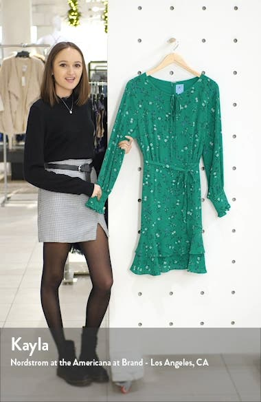 Tossed Floral Long Sleeve Dress, sales video thumbnail