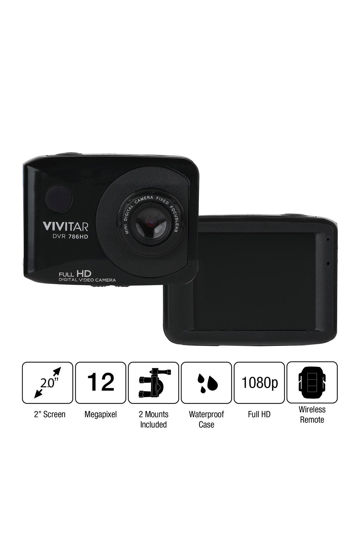 Image of VIVITAR Capture 12.1 MP Photos Full HD 1080P Video Camera - Black