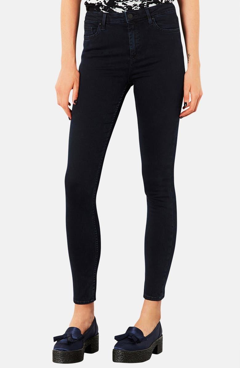 TOPSHOP Moto 'Jamie' High Rise Crop Skinny Jeans, Main, color, 400