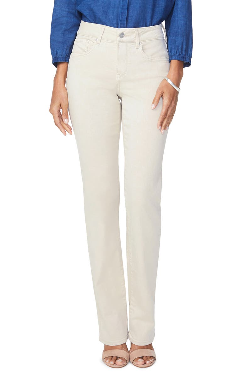 NYDJ Marilyn Straight Leg Stretch Jeans, Main, color, FEATHER