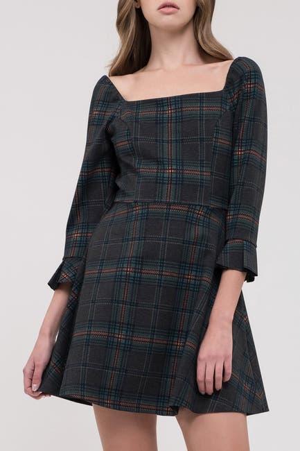 Image of J.O.A. Plaid Fit & Flare Dress