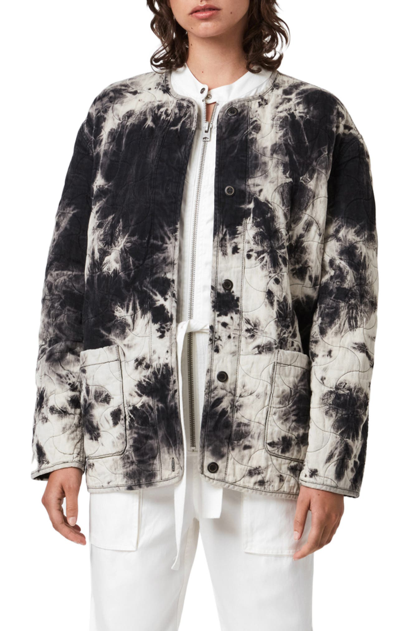 ALLSAINTS Nora Tie Dye Quilted Jacket | Nordstrom