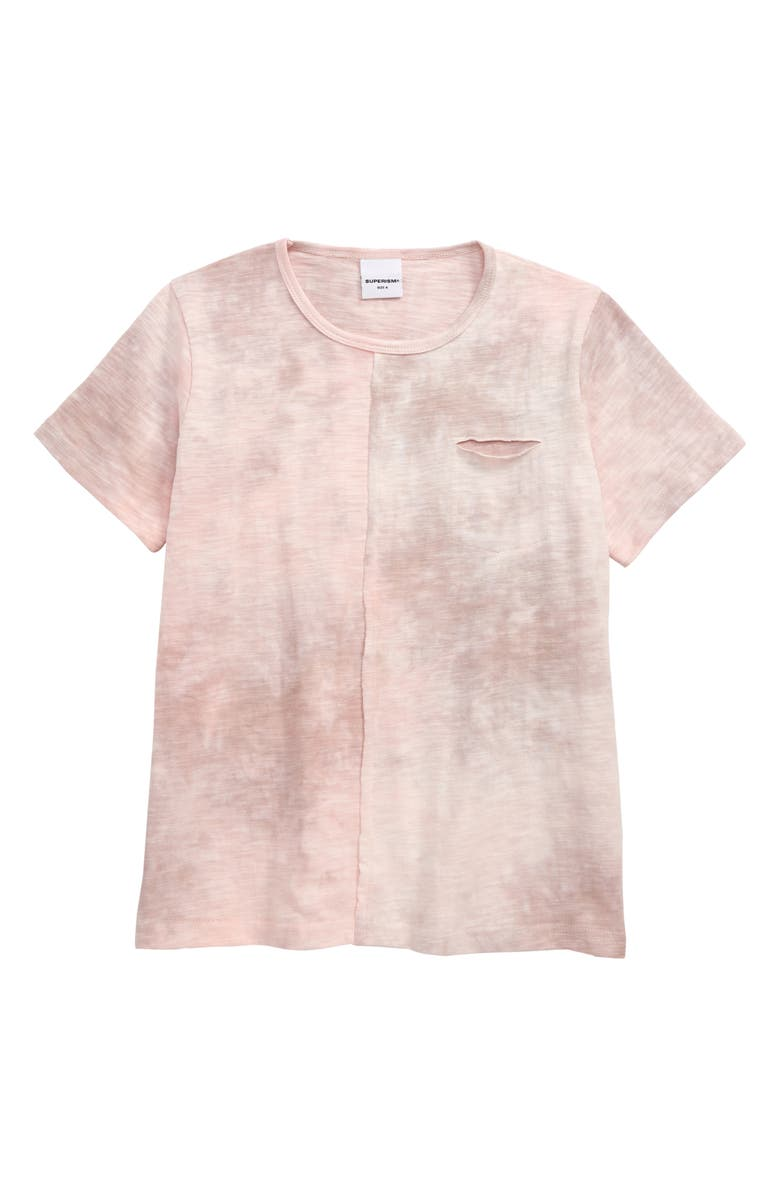 SUPERISM Travi Tie Dye T-Shirt, Main, color, PINK