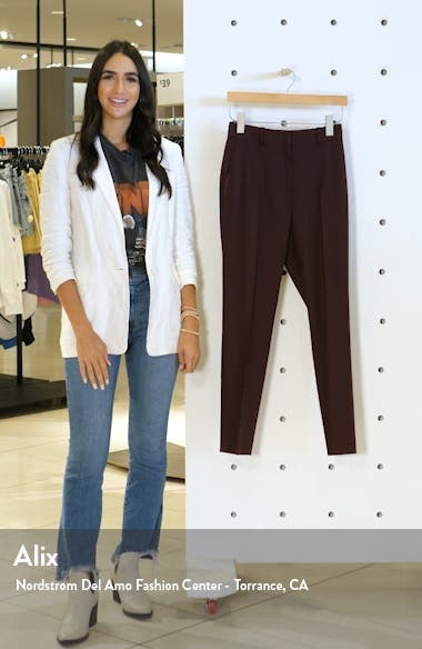 Lissia Slim Textured Wool Blend Suit Trousers, sales video thumbnail