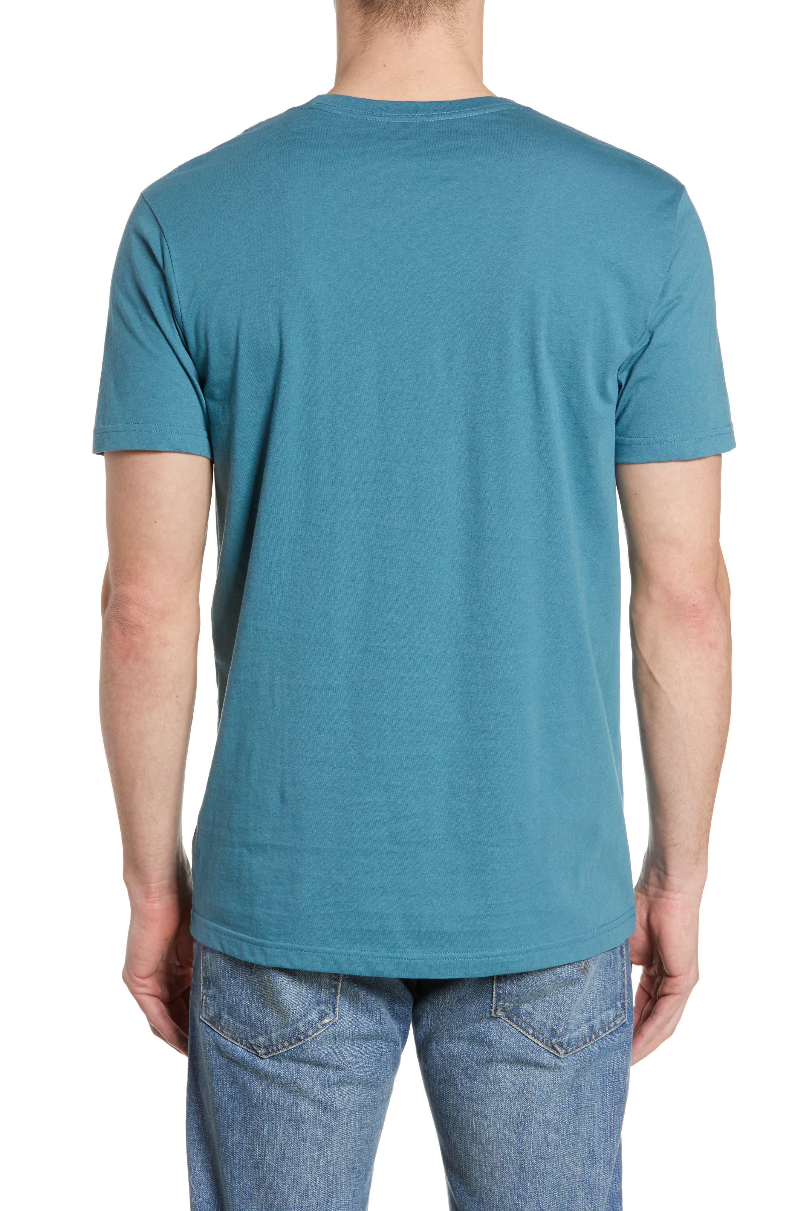 ,                             Fitz Roy Bear Crewneck T-Shirt,                             Alternate thumbnail 2, color,                             TASMANIAN TEAL