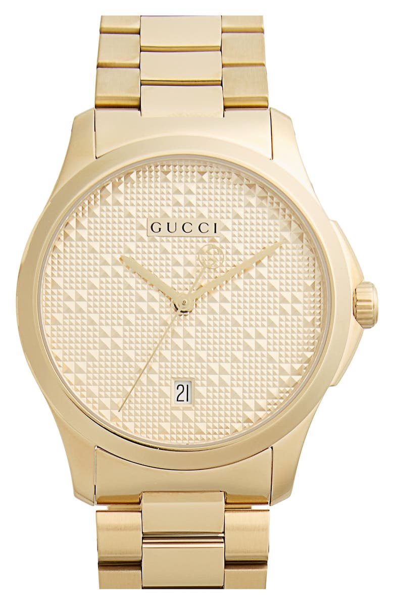 GUCCI Round Bracelet Watch, 38mm, Main, color, GOLD