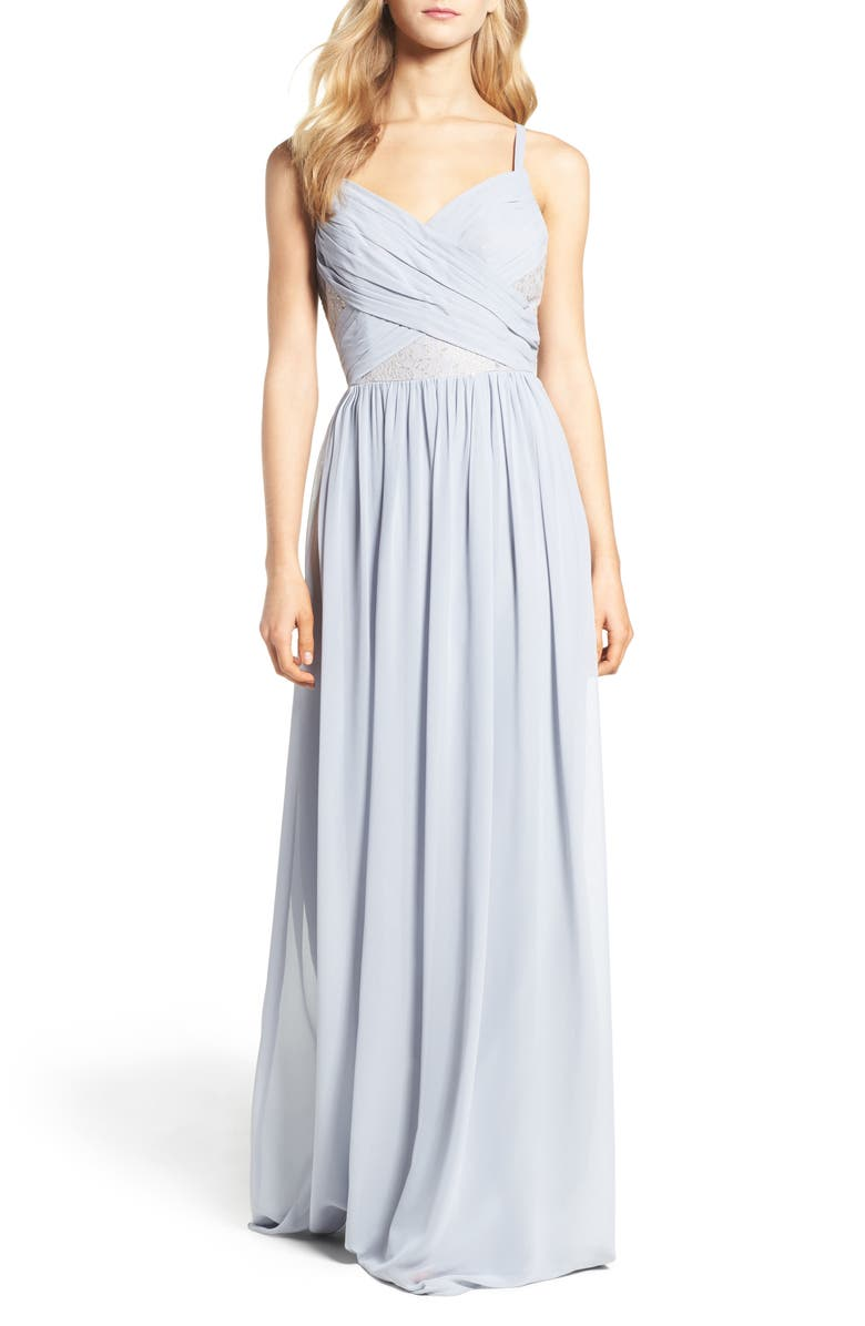 HAYLEY PAIGE OCCASIONS Sleeveless Chiffon Gown, Main, color, 040