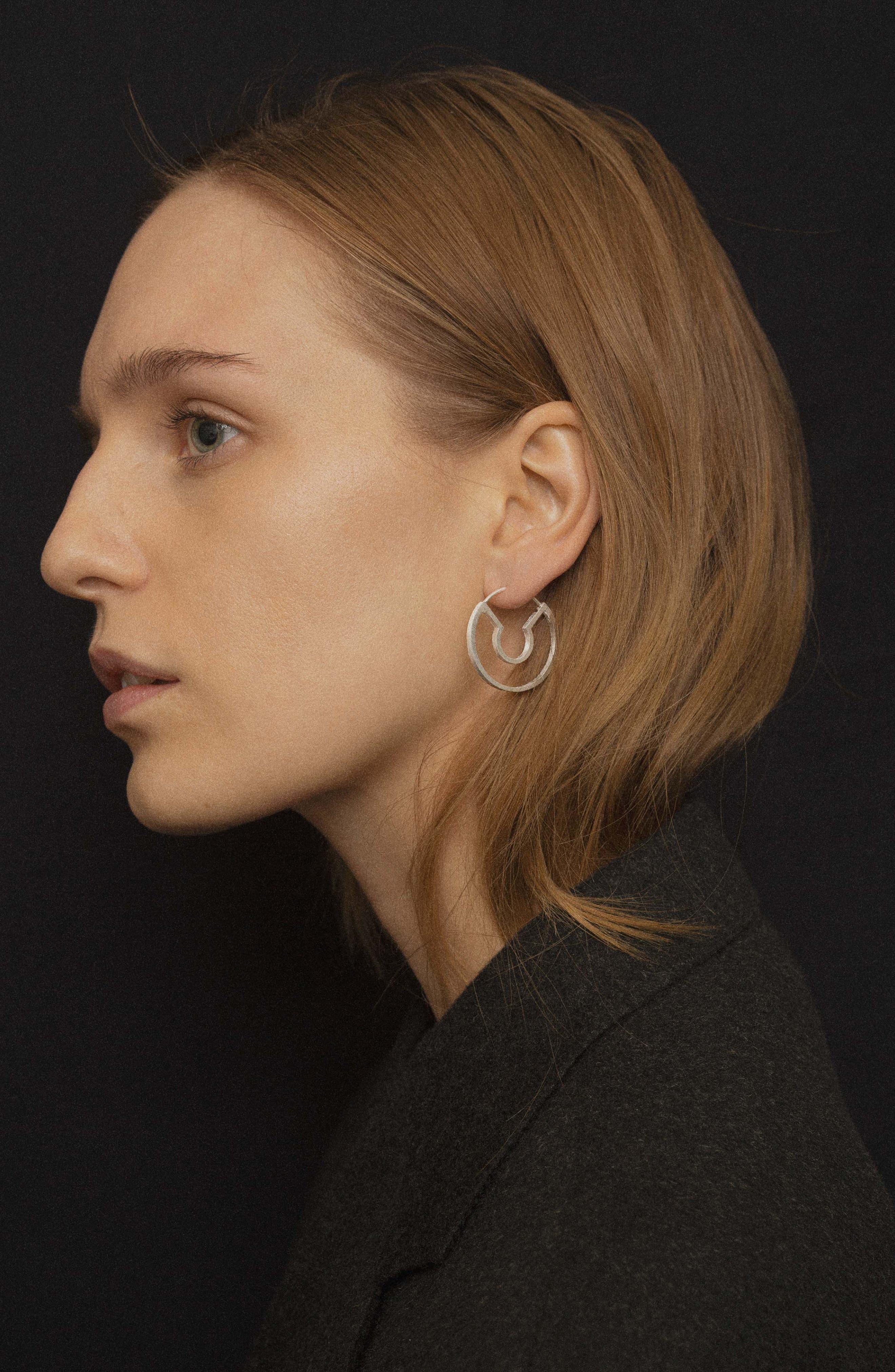 ,                             Blind Date Earrings,                             Alternate thumbnail 3, color,                             SILVER