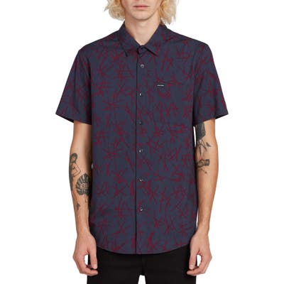 Volcom Marker Fade Slim Fit Shirt, Blue