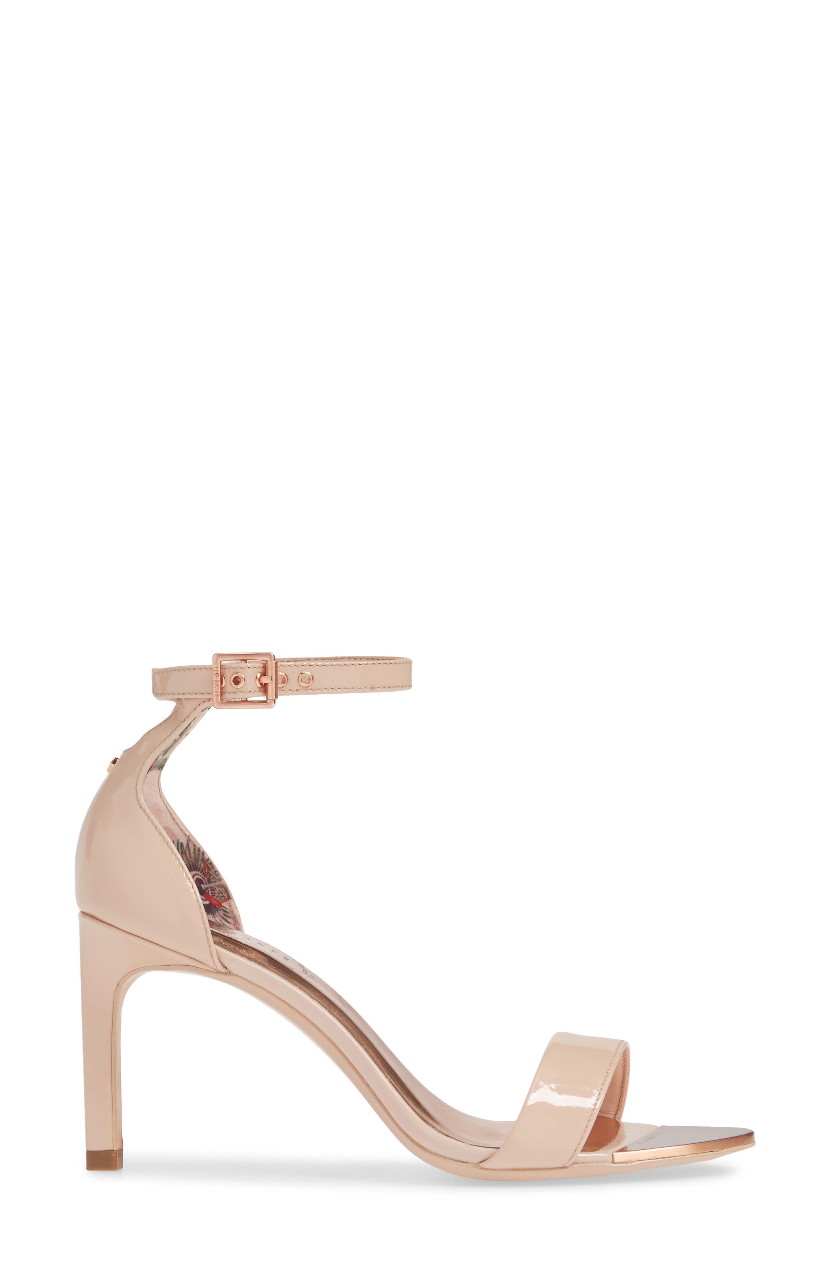 ,                             Ankle Strap Sandal,                             Alternate thumbnail 3, color,                             NUDE PATENT LEATHER