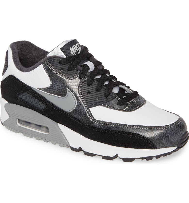 NIKE Air Max 90 QS Sneaker, Main, color, WHITE/ GREY/ ANTHRACITE