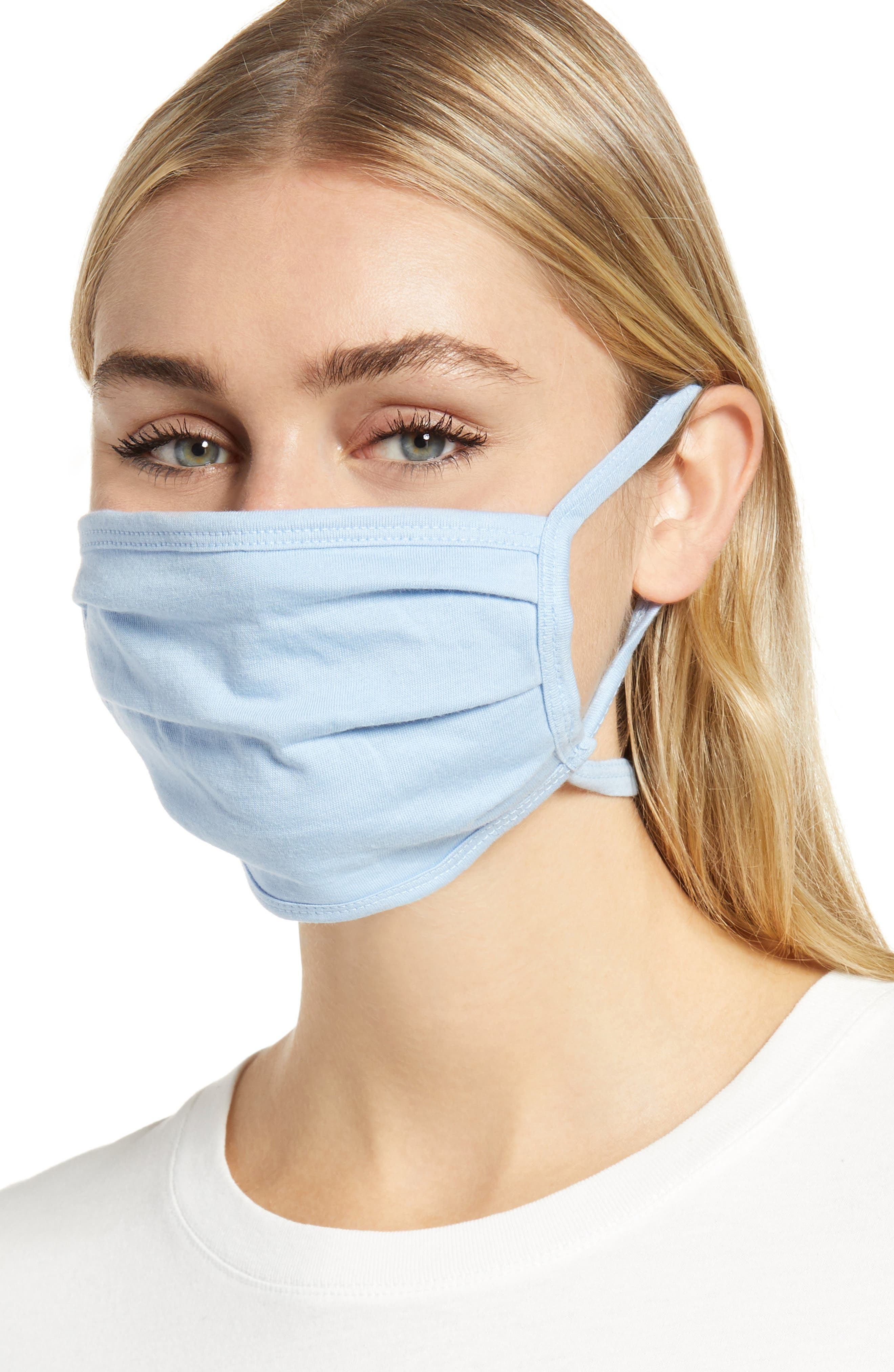 Image of Nordstrom Solid Non-Medical Adult Face Masks - Set of 4