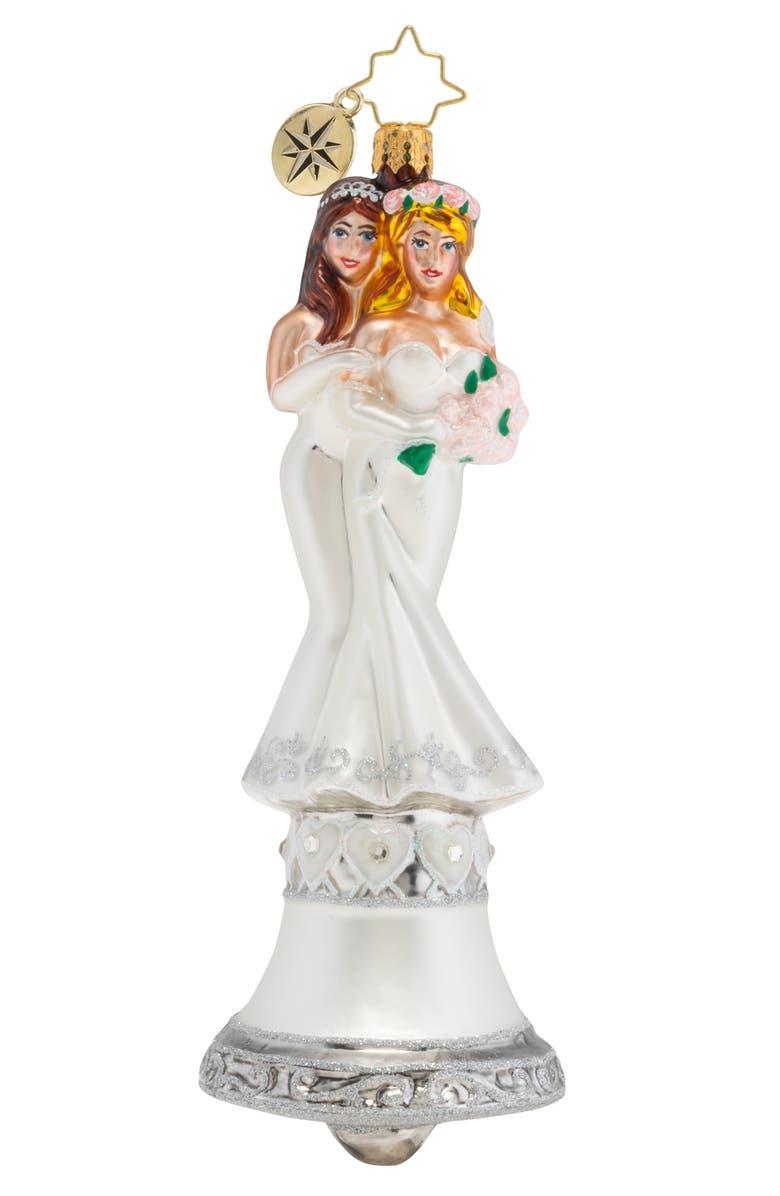 CHRISTOPHER RADKO Passionately Perfect Ornament, Main, color, WHITE