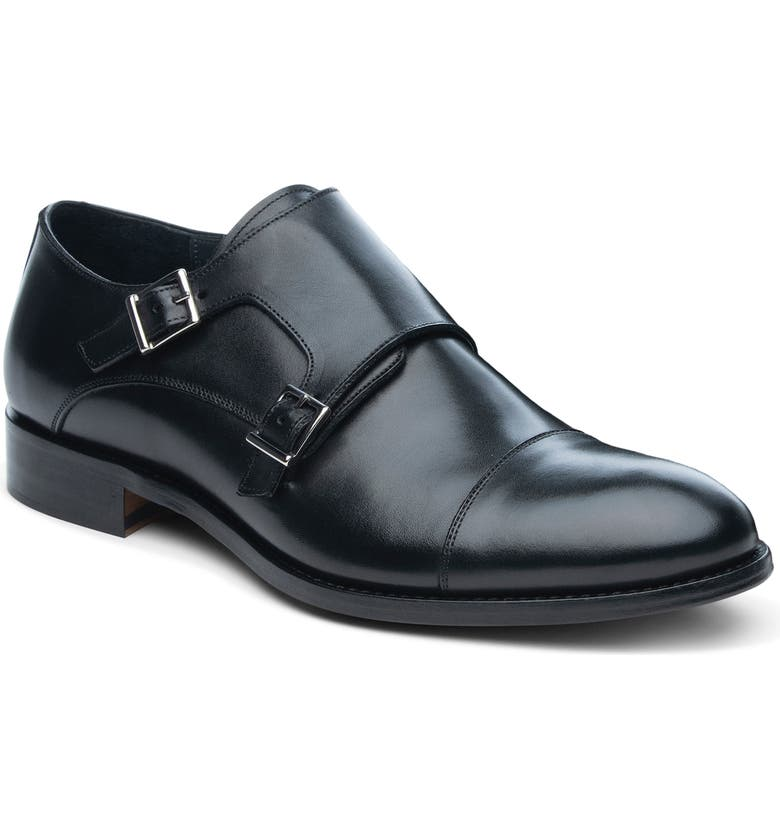 ANKARI FLORUSS ANKARI-FLORUSS Cap Toe Monk Shoe, Main, color, BLACK