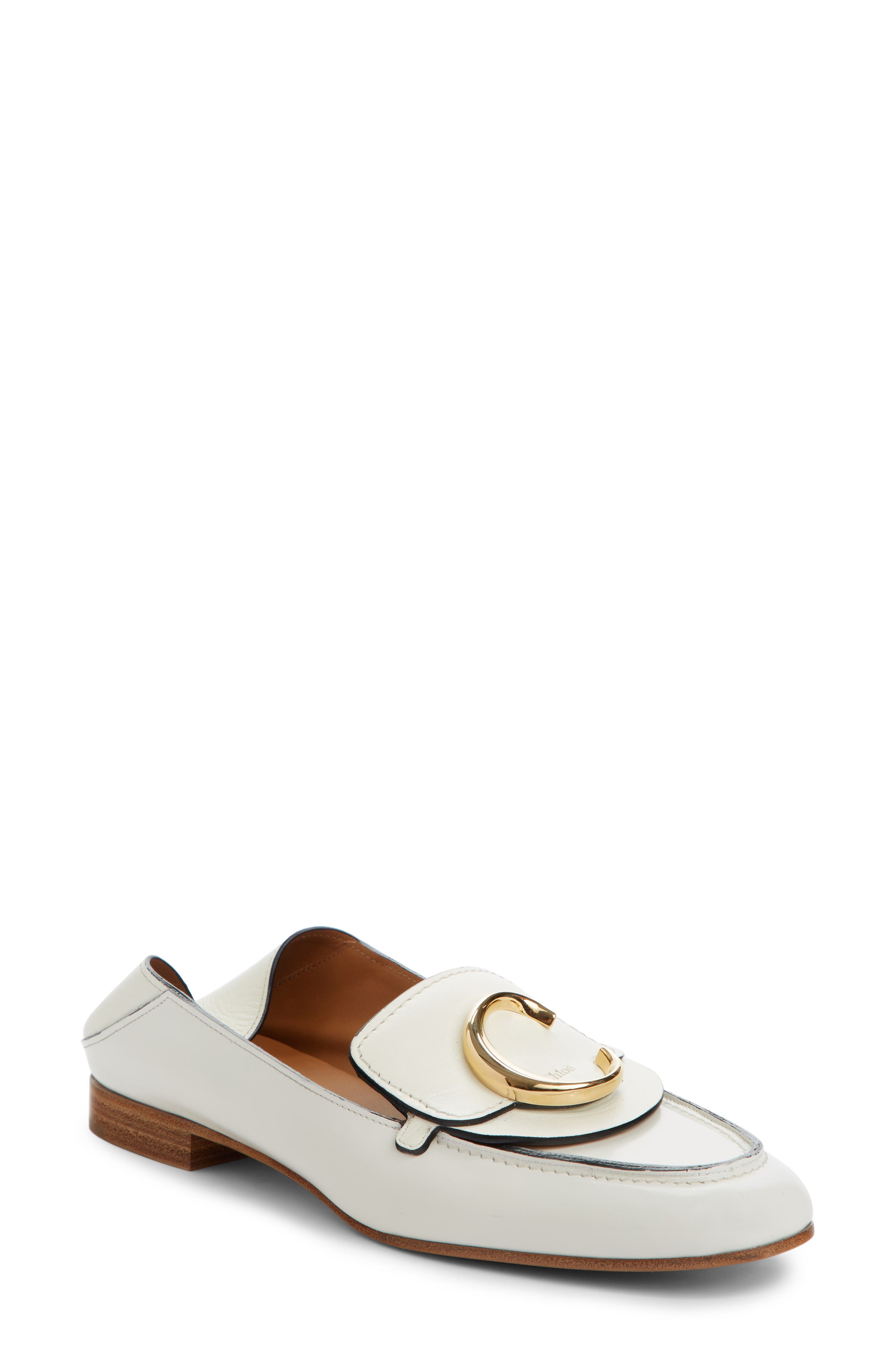 Chloe Story Convertible Loafer - White