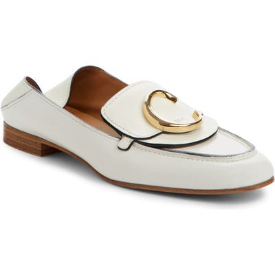 Chloe Story Convertible Loafer, White