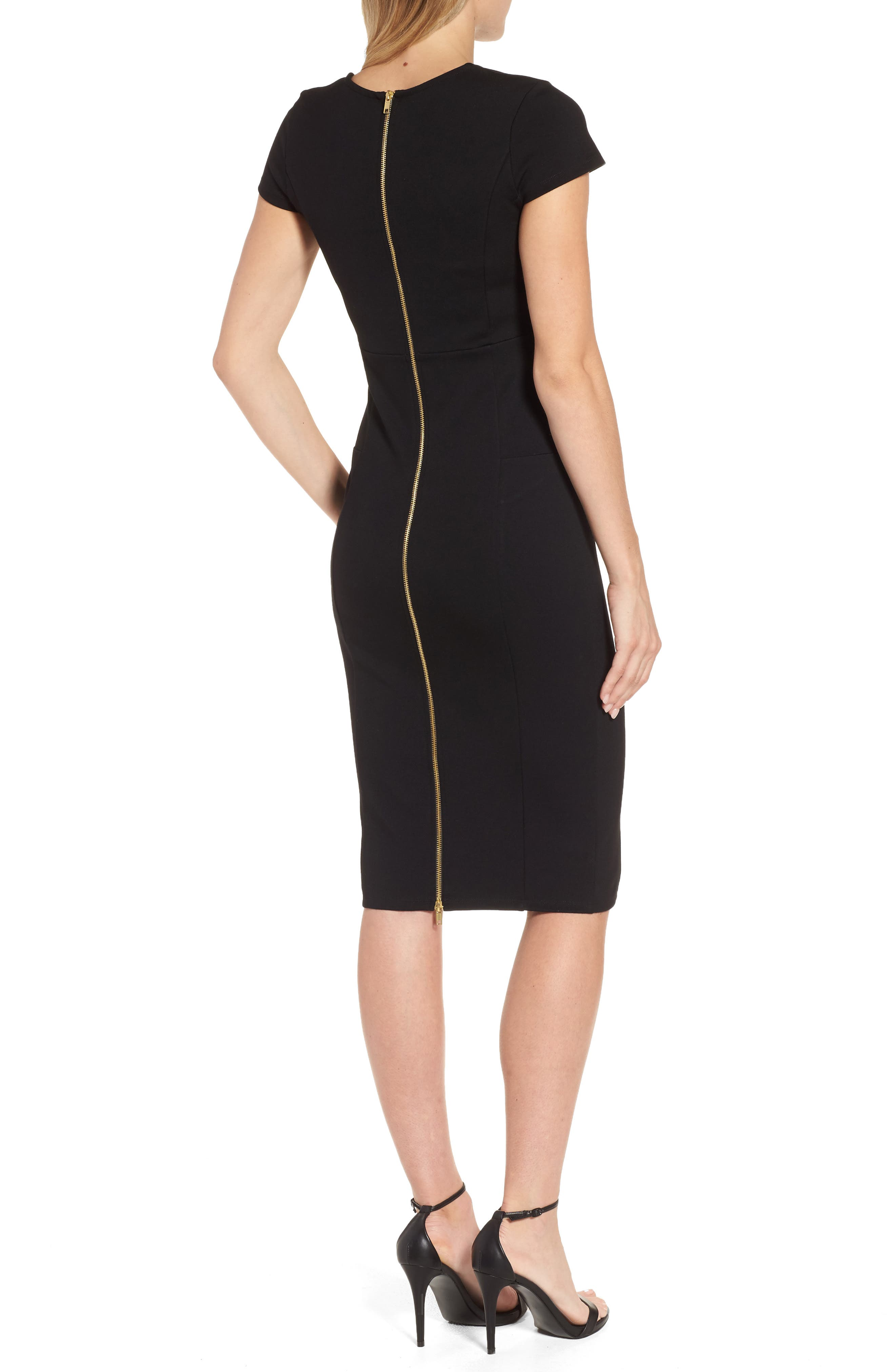 ,                             Ward Seamed Pencil Dress,                             Alternate thumbnail 2, color,                             001
