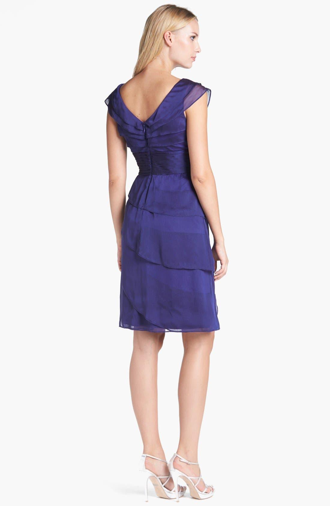 ,                             Tiered Chiffon Dress,                             Alternate thumbnail 33, color,                             450