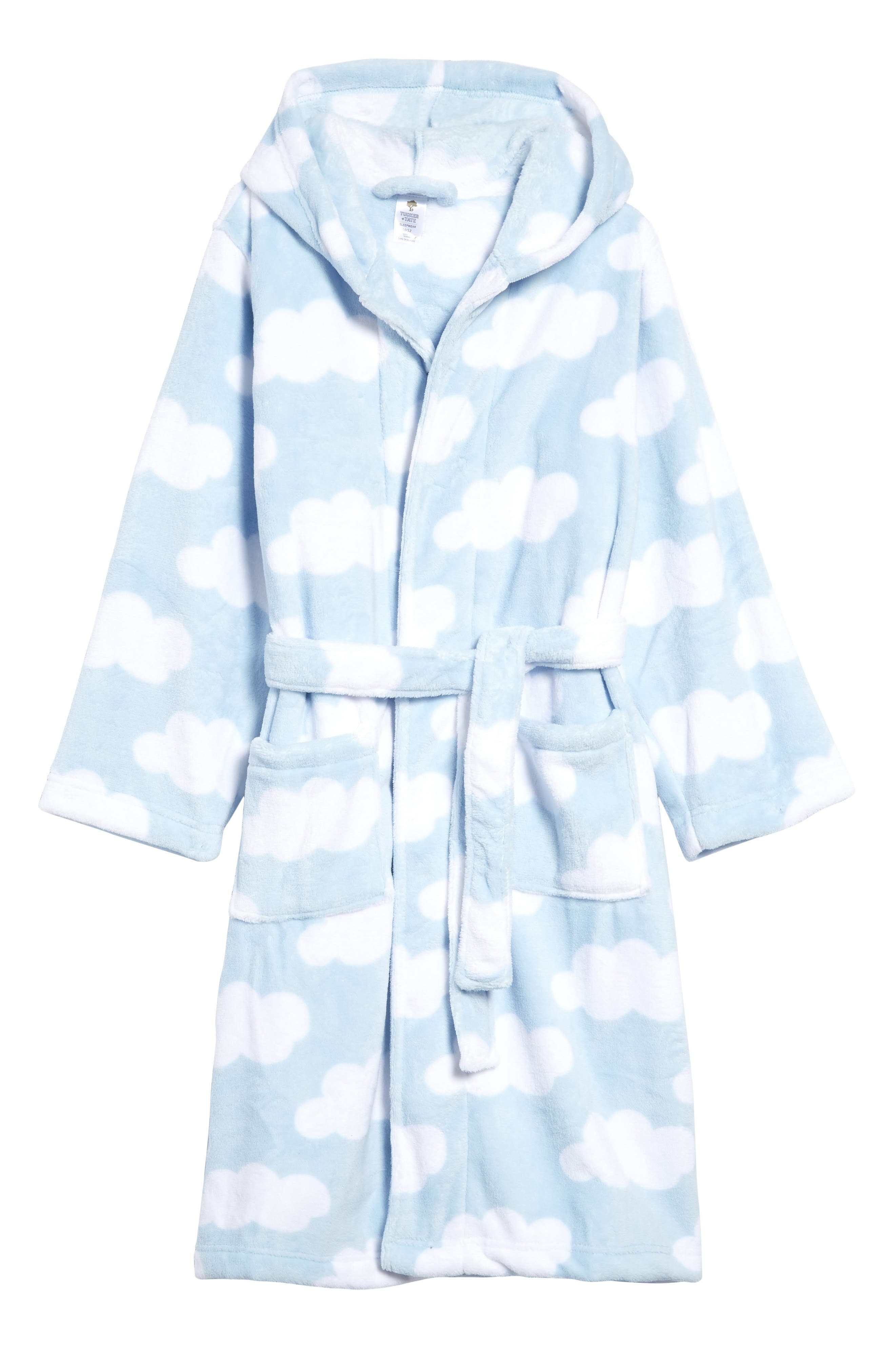 There\\\'s no doubt that she\\\'ll love snuggling up in this brightly patterned fleece robe fashioned with a cozy hood and roomy front pockets. Style Name: Tucker + Tate Kids\\\' Hooded Fleece Robe (Big Girls). Style Number: 1045557 17. Available in stores.