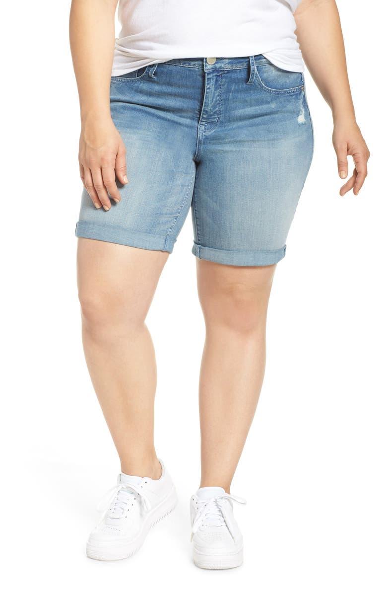 SEVEN7 Denim Bermuda Shorts, Main, color, RADIANT
